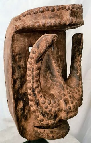 Masque en bois Dan / War - Côte d'Ivoire