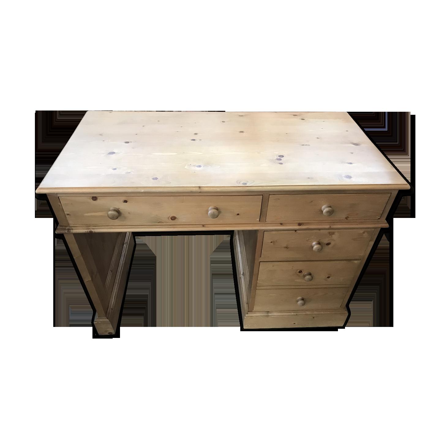 Bureau en sapin bois matériau bois couleur vintage poikmkr