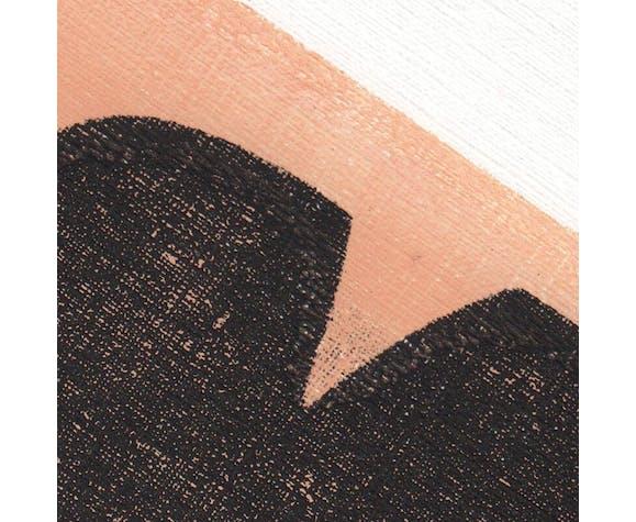 Peinture sur papier daté et signé sans cadre