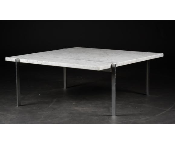Table basse PK61A grand modèle, design Poul Kjaerholm 1956 pour Fritz Hansen
