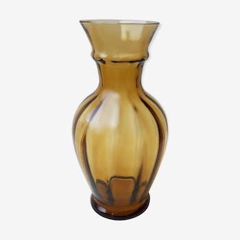 Vase en verre fumé 70