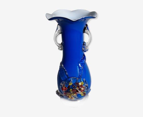 Vase  Murano en verre soufflé vintage