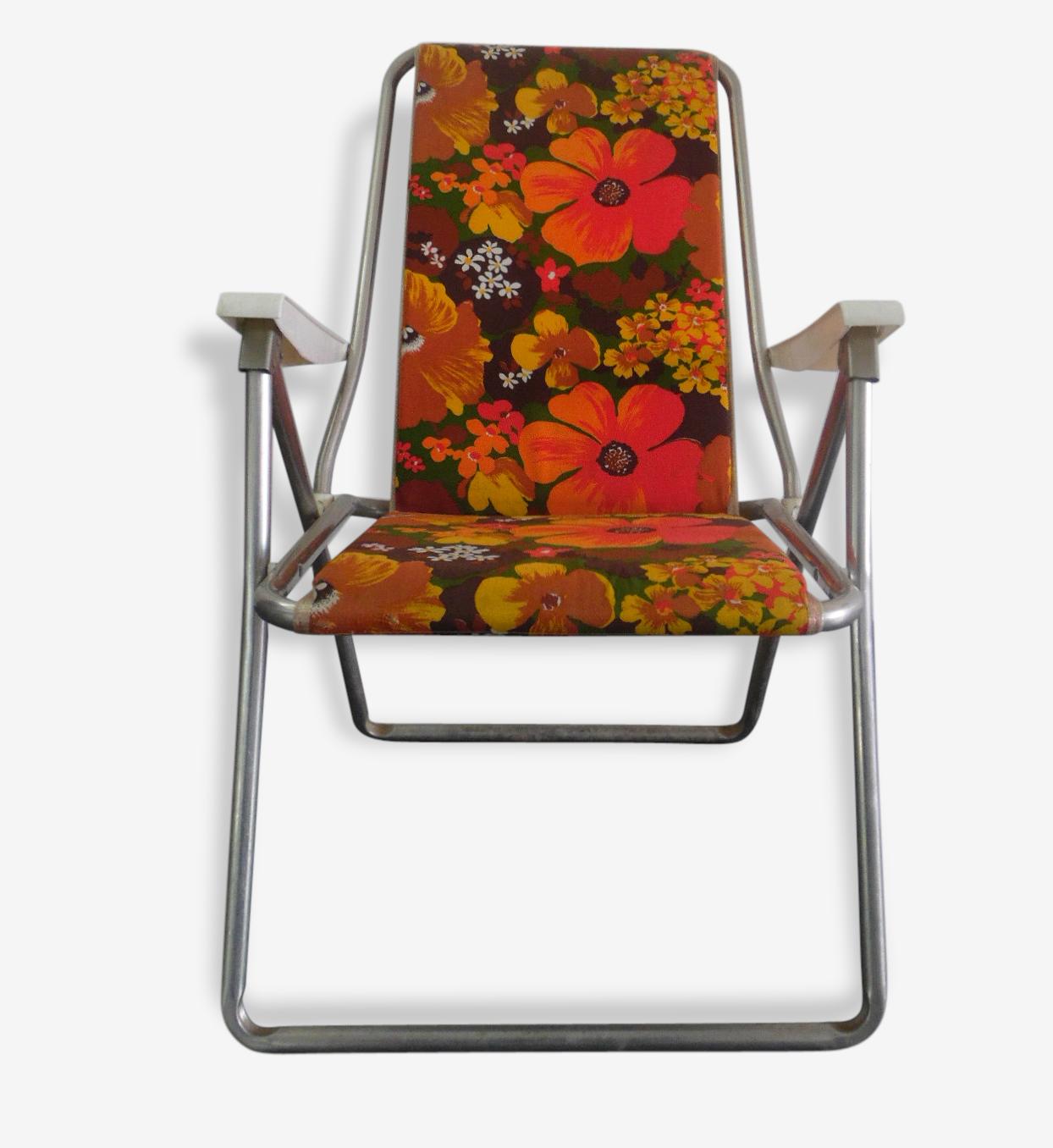 Chaise Pliante De Camping Kettler Vintage Metal Orange