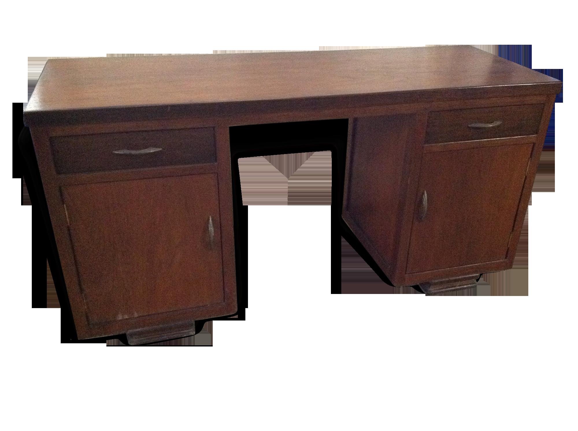 Petit bureau époque colonial bois matériau bois couleur