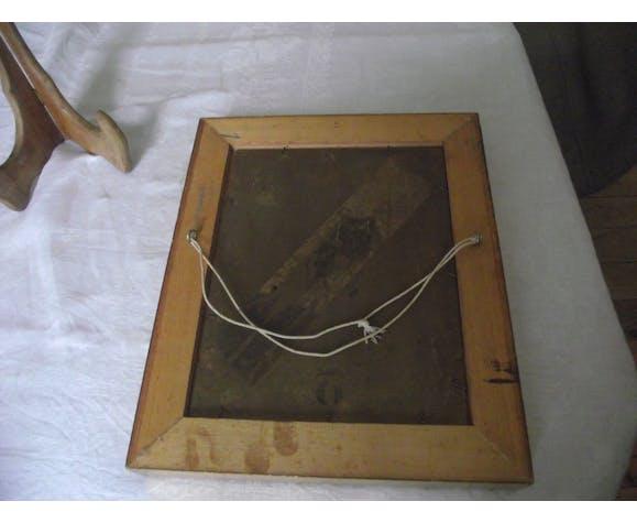 Huile sur carton signe Braux 1918
