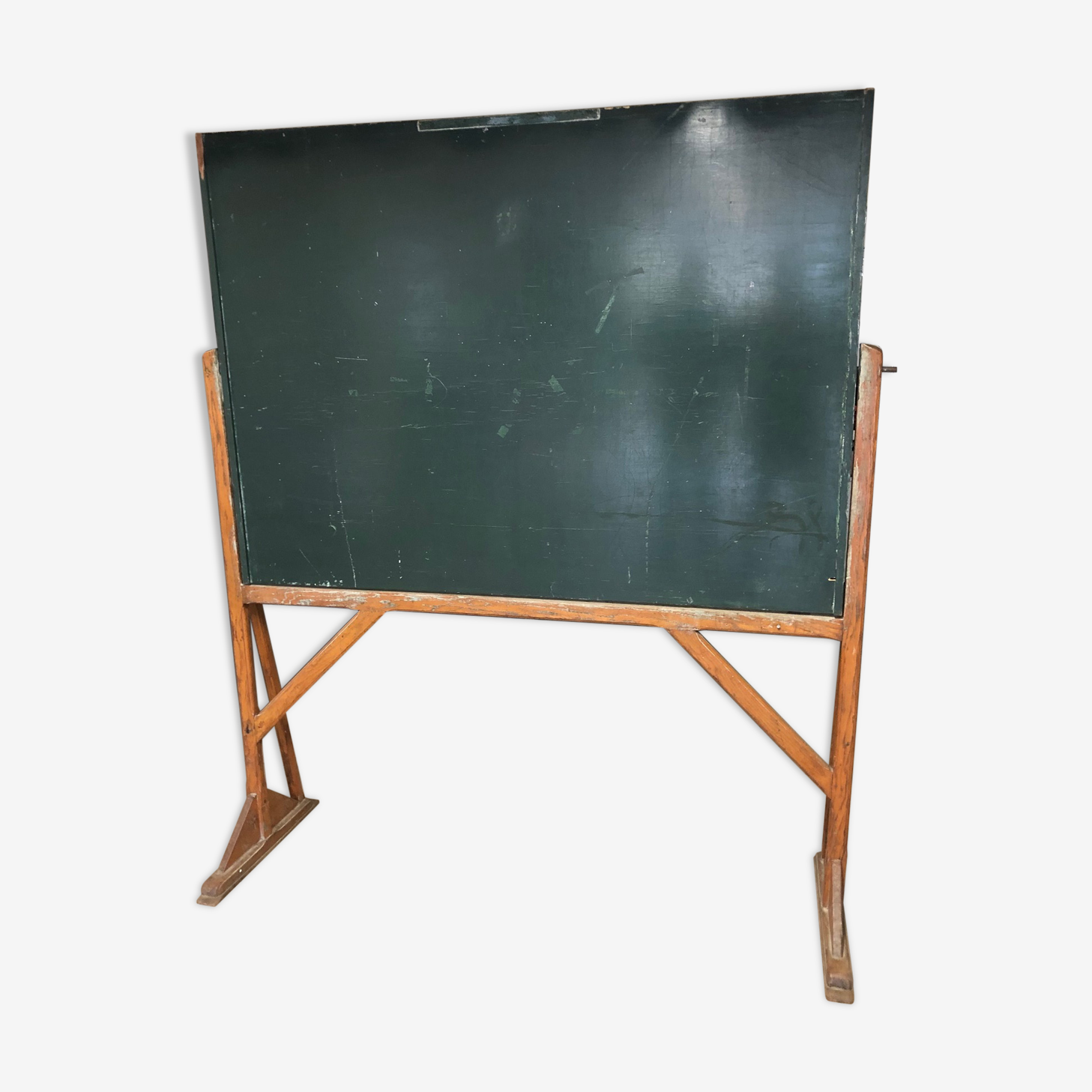 Old table on year 50 wooden frame