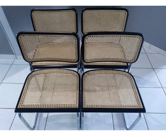 Suite of 4 Cesca B32 chairs by Marcel Breuer 1986