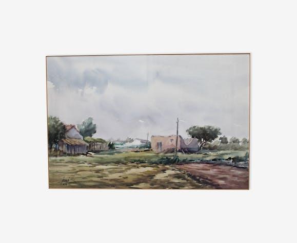 Aquarelle de Jons Navarro 1989