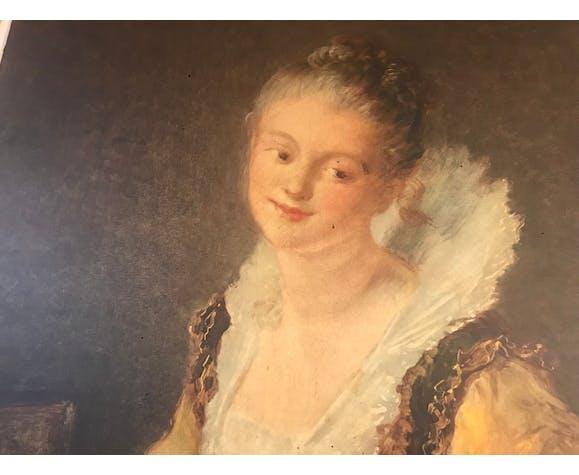 Ancien tableau femme