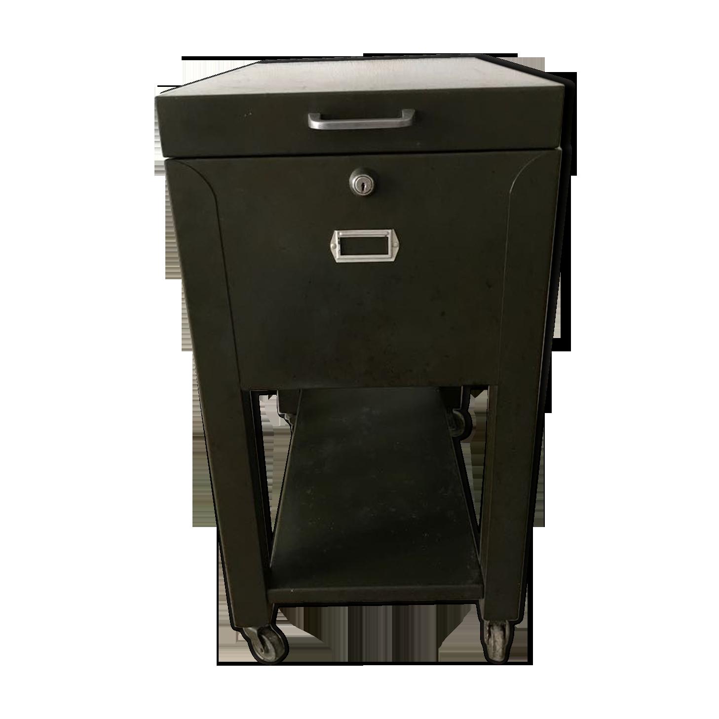 Meuble de rangement de bureau métallique fer vert industriel