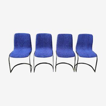 Série de 4 chaises Ligne Roset 1970