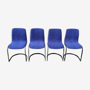 Set of 4 chairs line Roset 1970