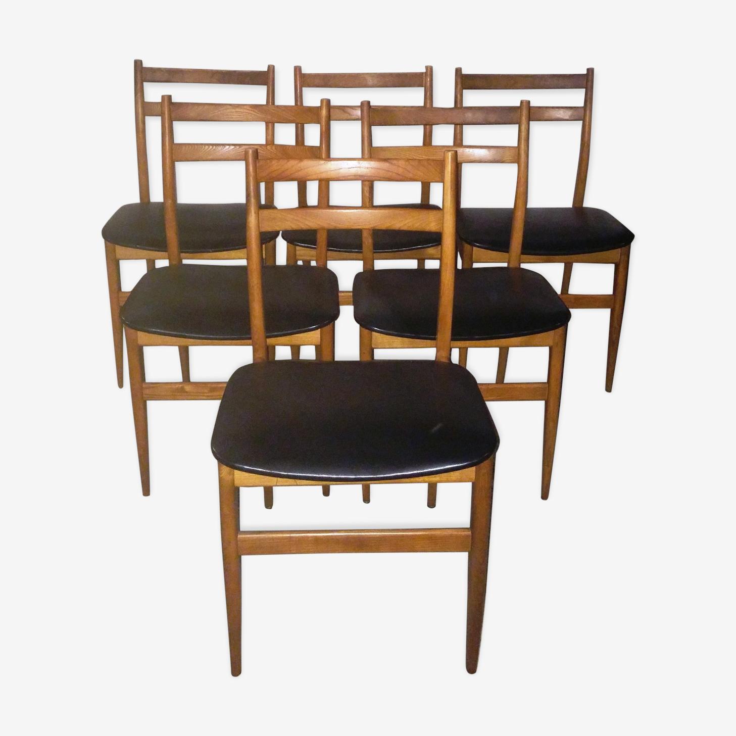 Lot de 6 chaises scandinave