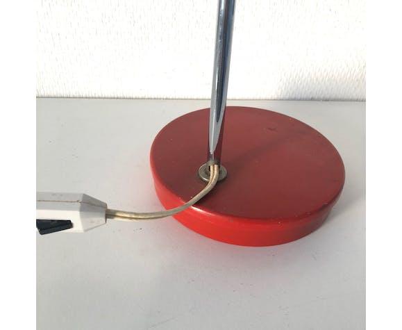 Lampe bureau eyeball coquelicot 32cm vintage 1960