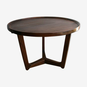 Table basse vintage d 39 occasion for Table circulaire extensible