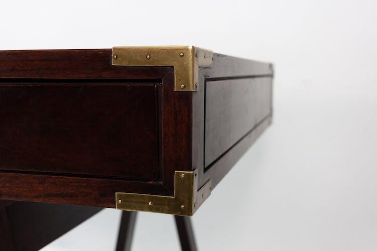 Campaign Desk Leather Top