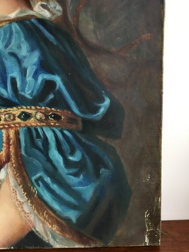 Portrait d'une dame de qualité à la couronne de fleurs, XX siècle