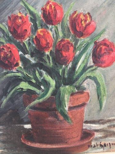 Tableau bouquet de tulipes