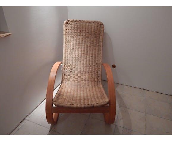 Rattan armchair years 70/80