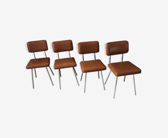 Lot de 4 chaises années 70