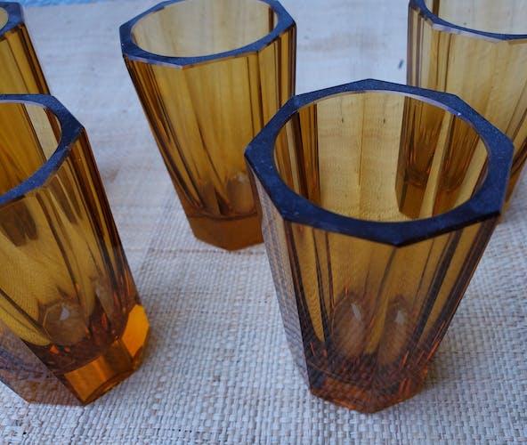 6 verres à shot ambré