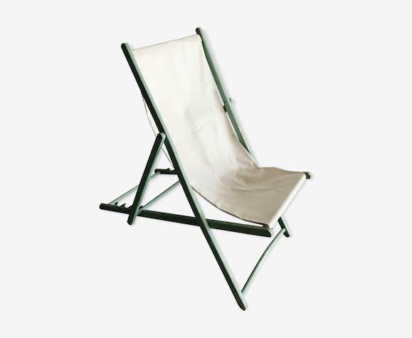 Chaise longue pliable en bois