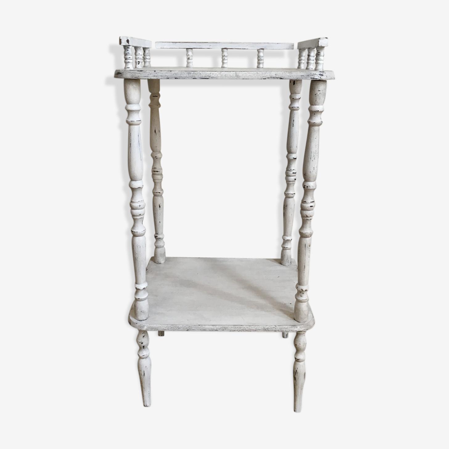 Table de chevet en bois blanc