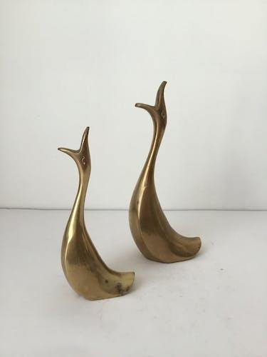 Couple de canards en laiton
