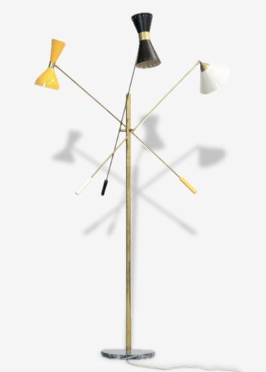 Lampadaire italien décoratif