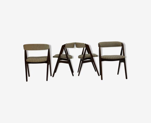 Set of 4 chairs teak th. Harlev for Farstrup furniture, 1950 s