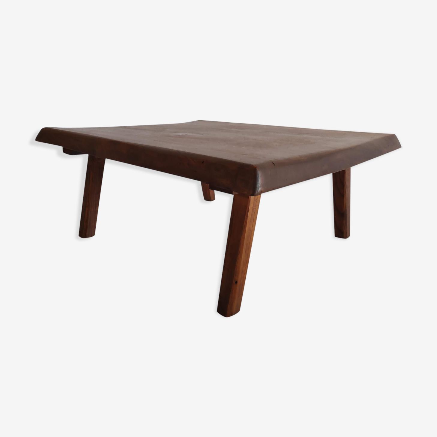 Table basse minimaliste des années 50 en bois de chêne massif