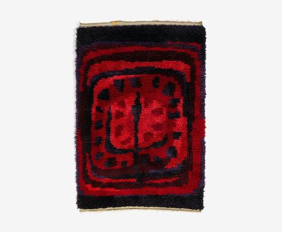Scandinavian 20th century modern rya rug. 175 x 123 cm (68.9 x 48.43 in).