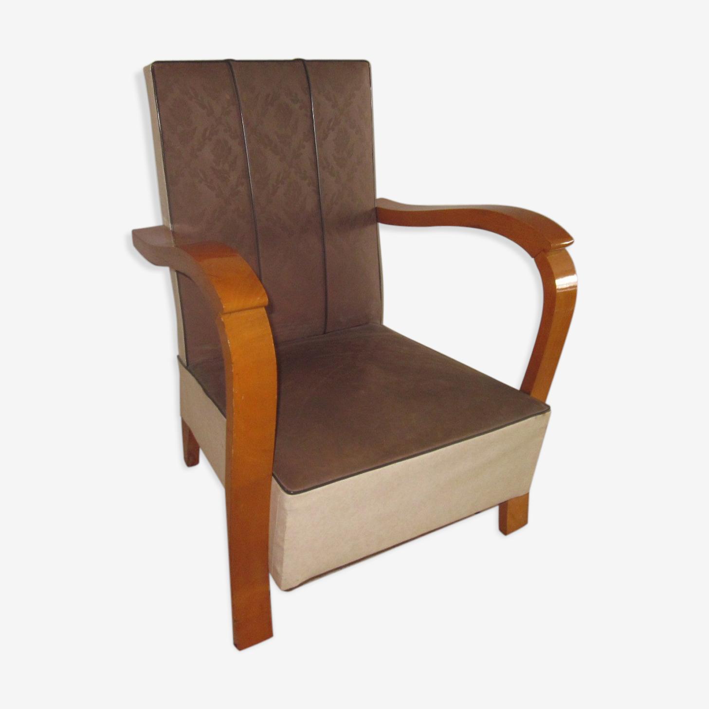 fauteuil enfant en skai des années 50