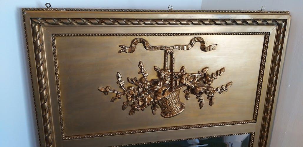 Miroir trumeau doré 73x135cm