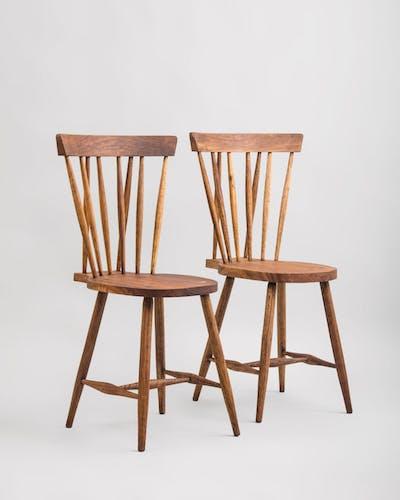 Mid-century teak dining chairs, 1950s, set of 2