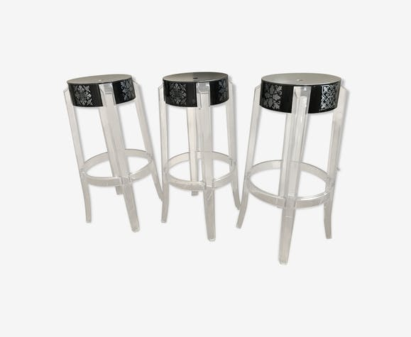 Tabourets Charles Ghost par Philippe Starck pour Kartell