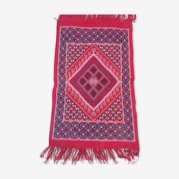 Red descent Berber carpet bed 100 x 62 cm