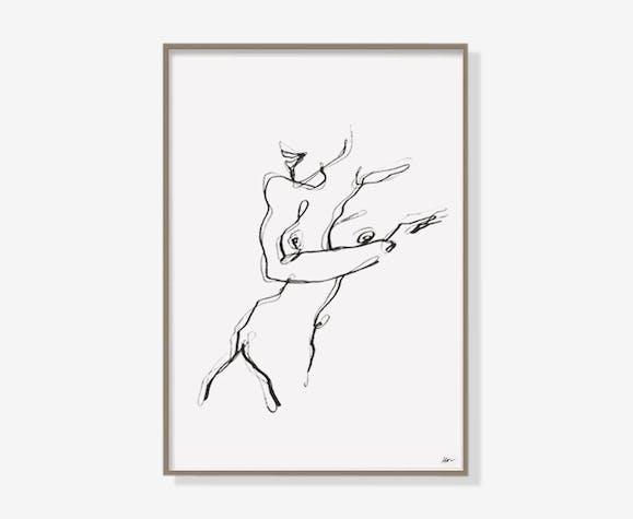 Shy woman - 21 x 30cm