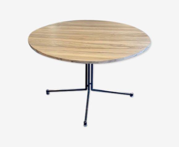Table à manger Steiner plateau noyer