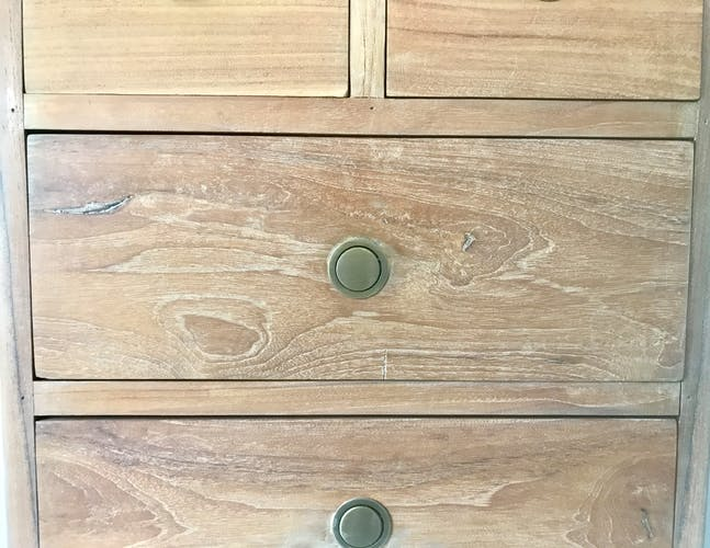 Semainier 7 tiroirs merisier