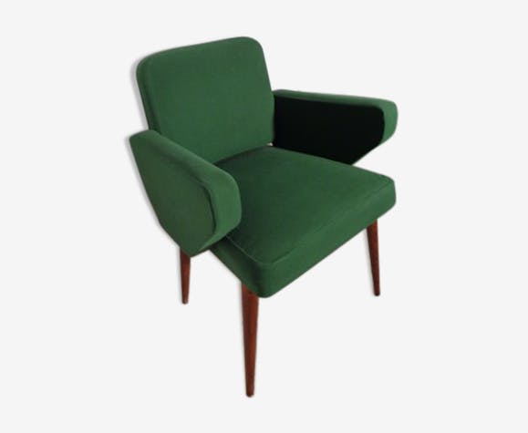 fauteuil scandinave vintage vert - Fauteuil Scandinave Vintage