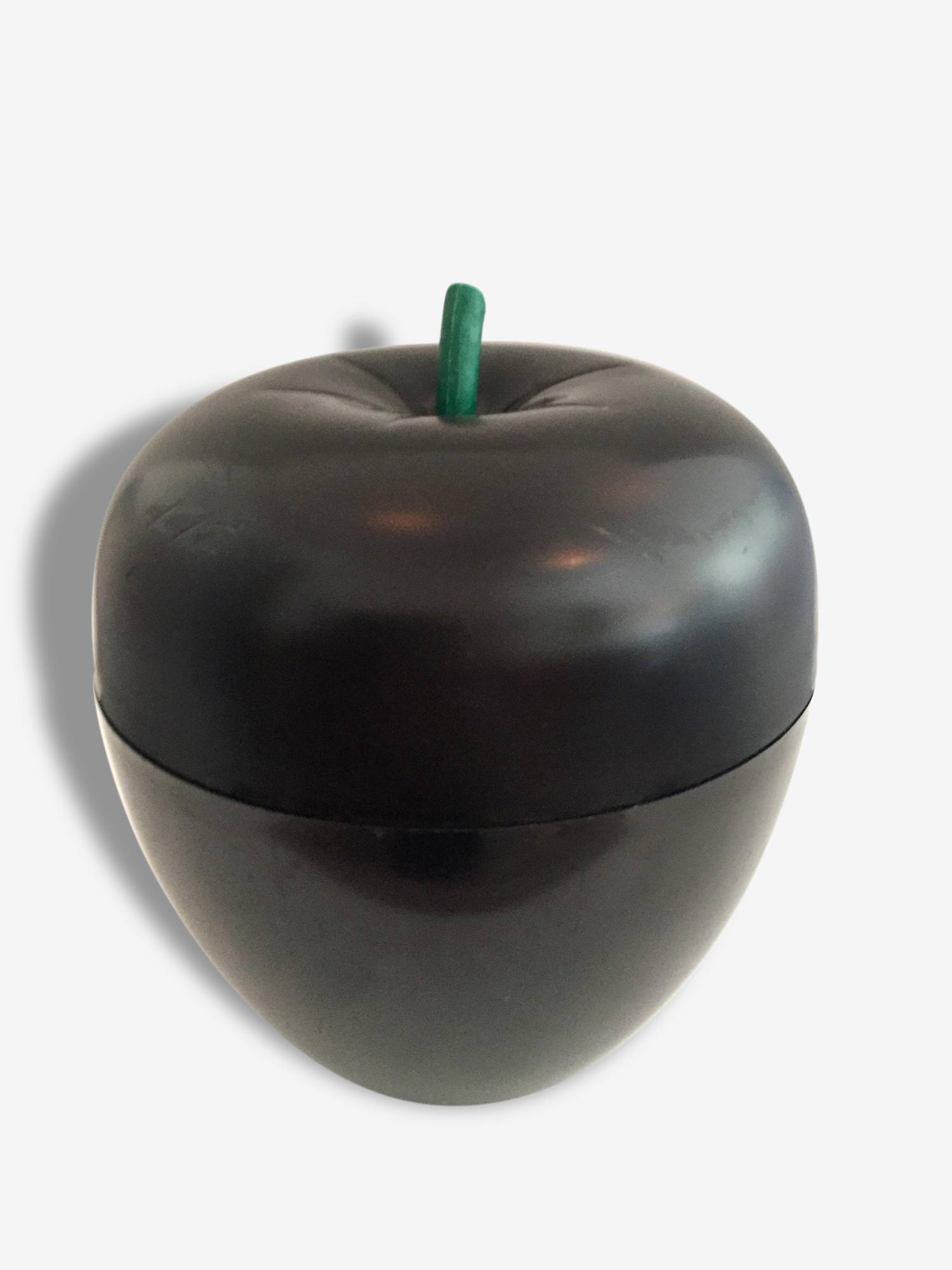 Pomme à Glaçons Noire Seau à Glace / French Vintage Black Apple Ice Bucket