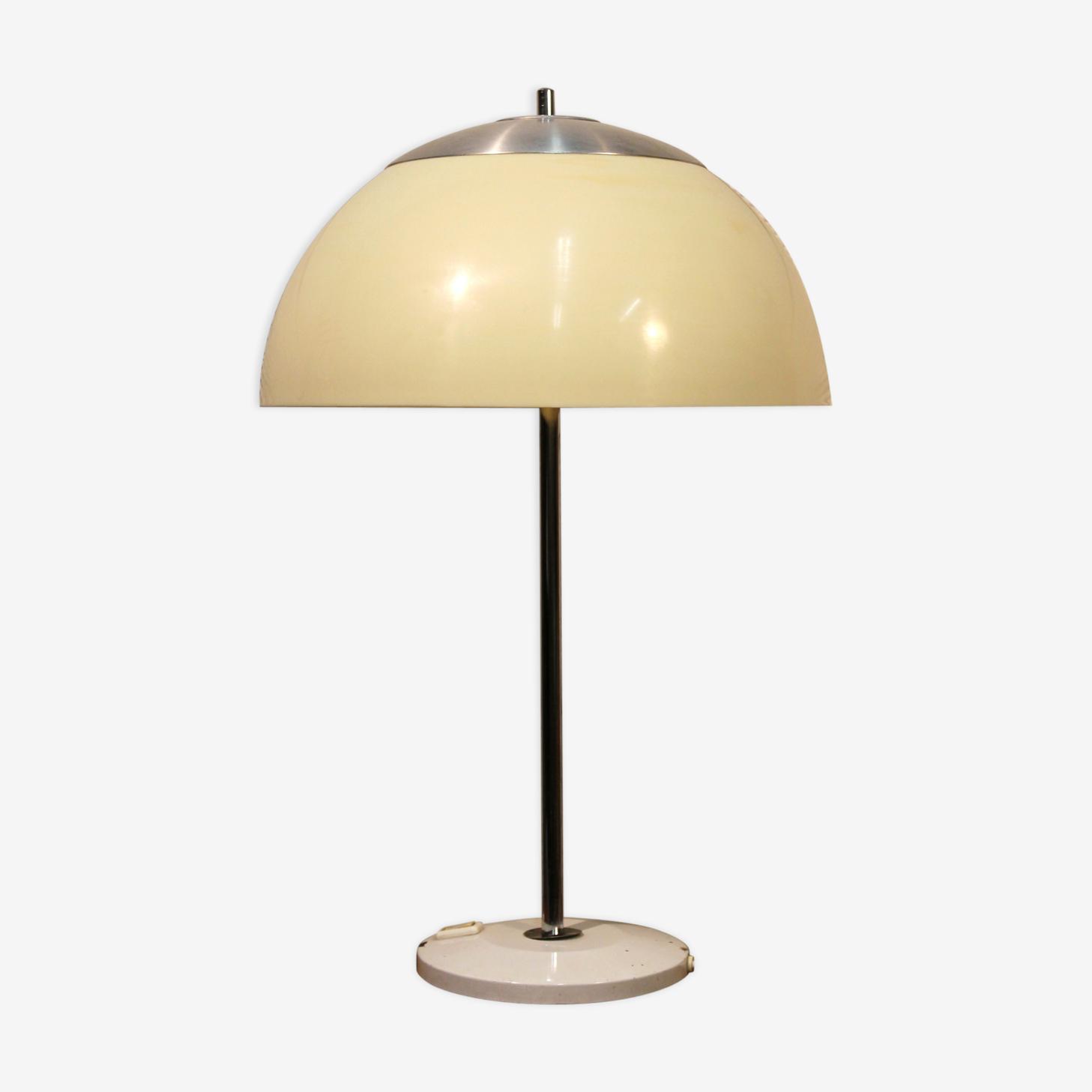 Lampe Champignon Unilux Annees 70 Plastique Blanc Vintage