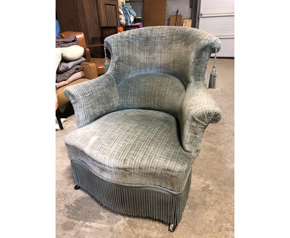 Ancient water green toad chair