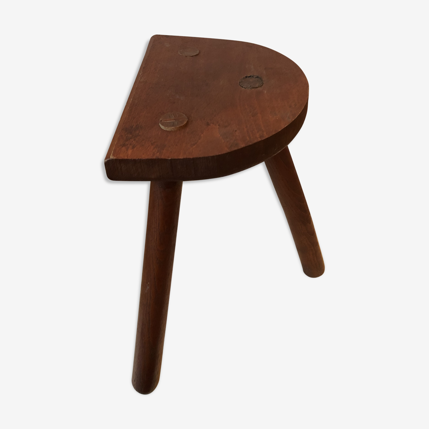 Old wooden tripod stool