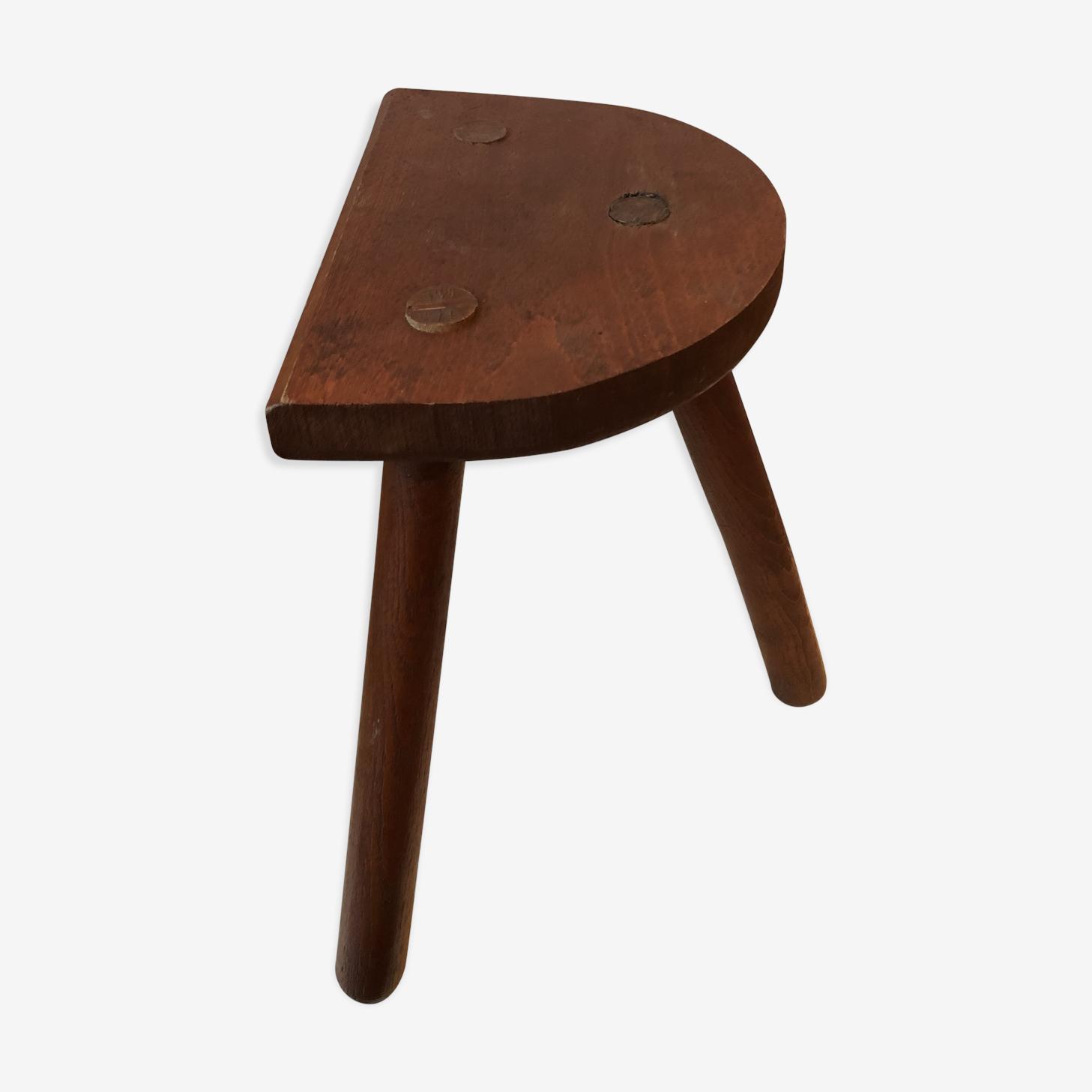 Tabouret tripode en bois ancien