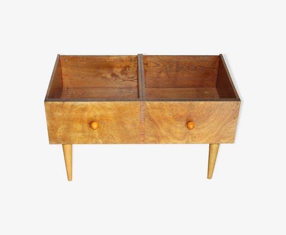 meuble de rangement disques vinyle bd livres pour enfants bois mat riau marron. Black Bedroom Furniture Sets. Home Design Ideas