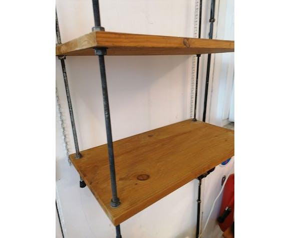 Etagère style industriel, bois et métal