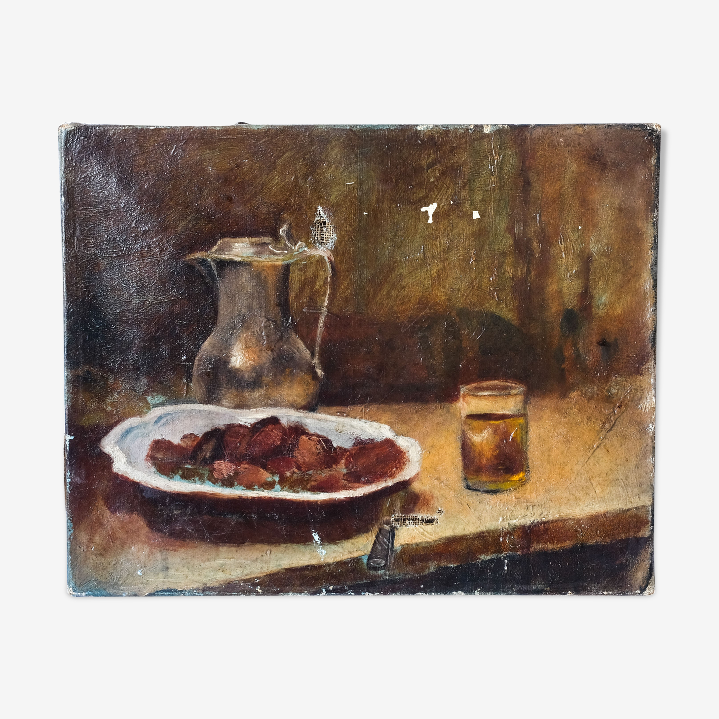 Old paint - still life with chestnuts
