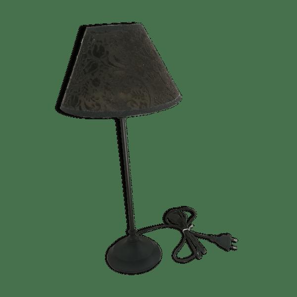 4ezz0uf Bon Ou Chevet État Lampe De Marron Déco Art Tissu Table 3Aq5LjR4